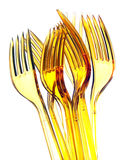 Plastic forks group Stock Image