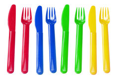 Plastic Forks and Knives Stock Image