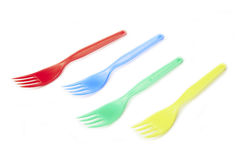 Plastic forks Royalty Free Stock Image
