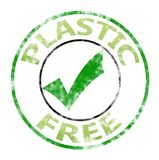 Plastic free stamp sign royalty free stock images