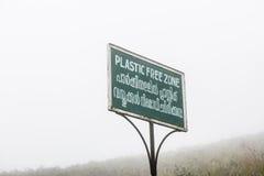 Plastic Free Zone Stock Photo