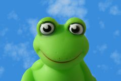 Plastic frog Stock Images