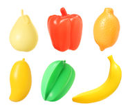 Plastic fruit collection Royalty Free Stock Photos