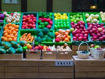 Plastic  fruit and vegetable have colorful. Different Plastic Fruits and vegetable have beautiful colour Stock Image