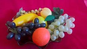 Plastic fruits Royalty Free Stock Image