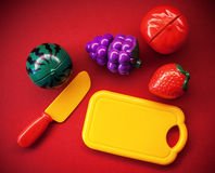 Plastic Fruits And Vegetables Stock Photos