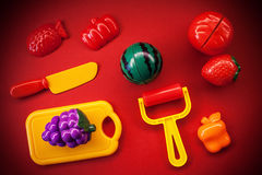 Plastic Fruits And Vegetables Stock Photo