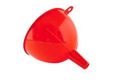 Plastic funnel Royalty Free Stock Images