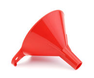 Plastic funnel isolated Stock Photo
