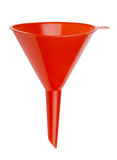 Plastic funnel. Red plastic funnel isolated on white Royalty Free Stock Photography