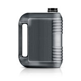 Plastic gallon. Gray plastic gallon, jerry can  isolated on a white background.  (with clipping work path Stock Images