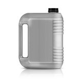 Plastic gallon. Gray plastic gallon, jerry can  isolated on a white background.  (with clipping work path Royalty Free Stock Photography