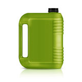 Plastic gallon. Green plastic gallon, jerry can  isolated on a white background.  (with clipping work path Royalty Free Stock Photo