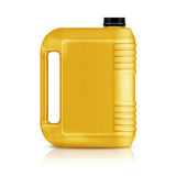 Plastic gallon. Yellow plastic gallon, jerry can  isolated on a white background.  (with clipping work path Stock Photos