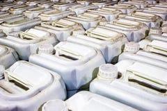 Plastic gallons Stock Afbeeldingen