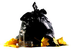 Plastic garbage bag Royalty Free Stock Photos