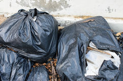 Plastic garbage bag Royalty Free Stock Image