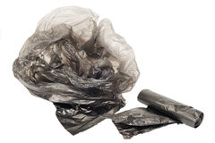 Plastic garbage bags Stock Image