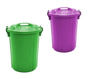 Plastic garbage bin Royalty Free Stock Photography