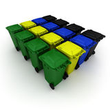 Plastic garbage cans Stock Photo