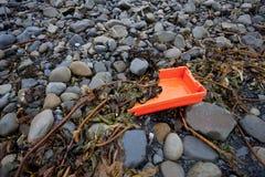 Plastic garbage washed up on the shore, Ireland Stock Photo