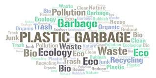 Plastic Garbage word cloud stock illustration