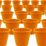 Plastic garden pot Stock Photos