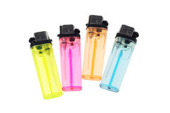 Plastic Gas Lighters Royalty Free Stock Photos