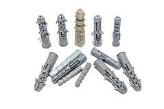 Plastic geïsoleerde Pennen Royalty-vrije Stock Foto's