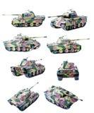 Plastic (geïsoleerde) tank Royalty-vrije Stock Fotografie