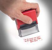 Plastic geïsoleerde zegel ter beschikking, royalty-vrije stock afbeelding