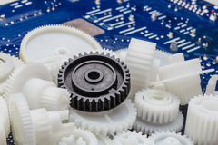The plastic gear Stock Photos