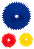 Plastic gearing wheels Royalty Free Stock Photography
