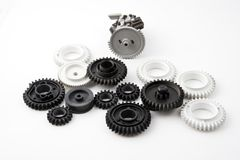 Plastic gears Stock Photo