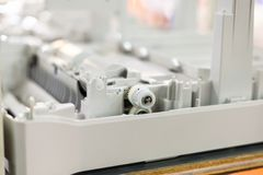 plastic gears in an assembling new printer Royalty Free Stock Image