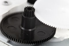Plastic gears wheels close up Stock Photography