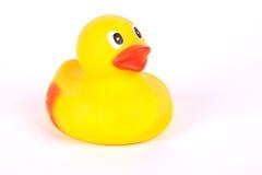 Plastic geel eendstuk speelgoed stock fotografie