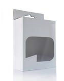 plastic genomskinligt vitt fönster för ask royaltyfria foton