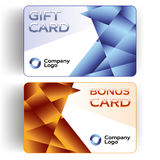 Plastic Gift and Bonus Cards Stock Photo