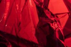Plastic Glanzend ziet door Abstract Flikkering Gevouwen Blauw Als achtergrond Royalty-vrije Stock Afbeelding
