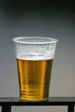 Plastic glas stock foto