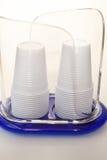 Plastic glas Royalty-vrije Stock Afbeeldingen