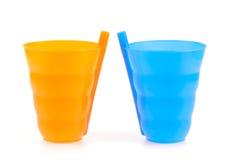 Plastic glas Stock Afbeeldingen