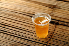 Plastic glass of beer Royalty Free Stock Photo