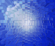 Plastic or glass blocks. Glass blocks of varying heights make a vivid background Royalty Free Stock Photo