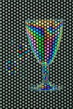 Plastic glass and two spoons Royalty Free Stock Image
