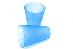 Plastic glasses Royalty Free Stock Photography