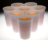 Plastic Glasses Stock Photography
