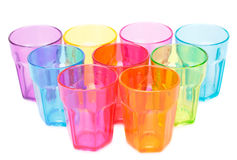 Plastic glasses Stock Images