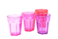 Plastic glasses Stock Photo